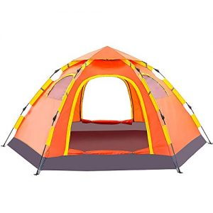 Double Layer Automatic Tent Waterproof Windproof for Camping