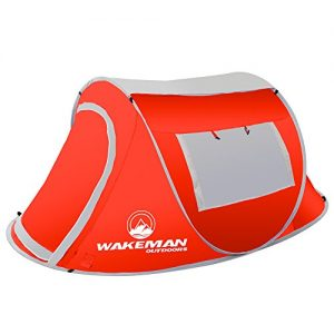 Water Resistant Barrel Style Tent for Camping with Rain Fly
