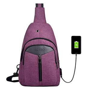 Daypack Unbalance Backpack with USB Charging Port