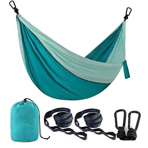 Lightweight Portable Parachute Nylon Hammock Set for Travel, Backpacking