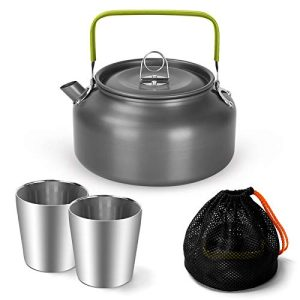 Lightweight Camping Kettle Set with 2 Cups