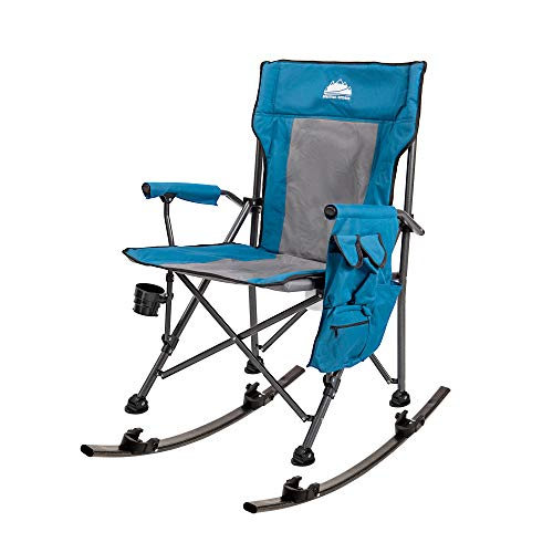 Folding Rocking Chair with Detachable Rockers Outdoor