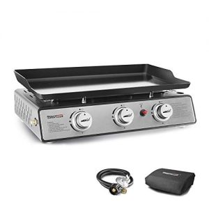 3-Burner Table Top Gas Grill Griddle with Cover