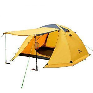 4 Person Backpacking Tent Double Layer Waterproof Larger