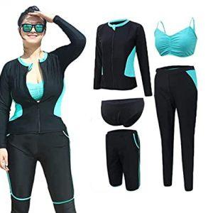 WODETIAN Wetsuit Womens Plus Size 4XL-5XL