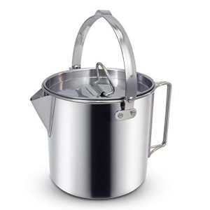 Outdoor Camping Tea Kettle Pot with Handles and with Lids