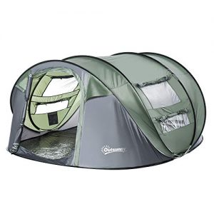 Automatic Instant Camping Tent with a Water-Fighting Polyester Rain Cover