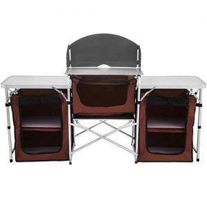 Portable Aluminum Folding Cook Table Lightweight