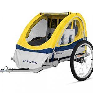 Schwinn Echo Child Bike Trailer, Double Baby Carrier
