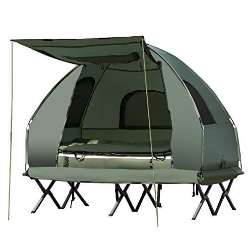 Folding Tent Combo with Air Mattress & Sleeping Bag