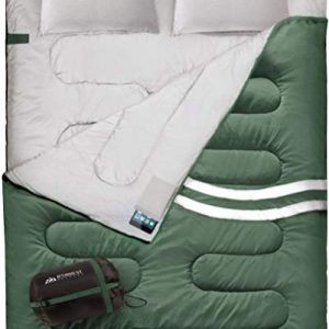 Double Sleeping Bag for Adults Extra-Wide & Warm