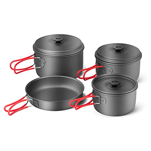Camping Cookware Pots and Pans Set