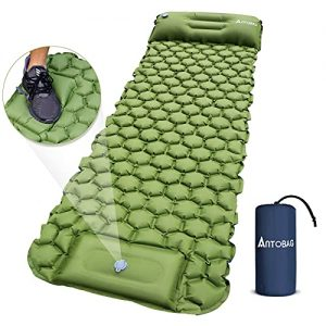 Extra Thick Durable Camping Inflatable Mat with Air Pillow