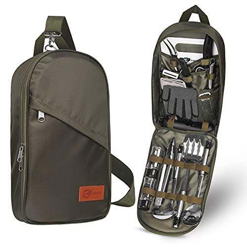 Portable Camp Kitchen Utensil Organizer Set