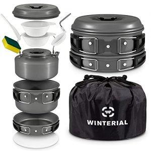 10 Piece Set for Camping, Backpacking, Hiking, Trekking