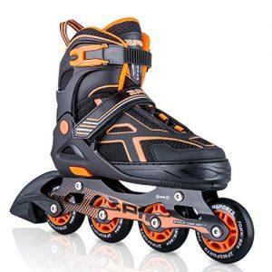 Orange Black Boys Adjustable Inline Skates