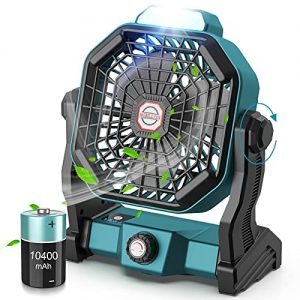 CONBOLA Portable Battery Operated Fan with LED Lantern