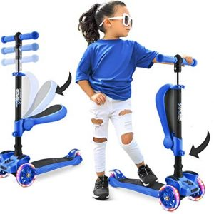 Adjustable Height 3 Wheeled Scooter for Kids