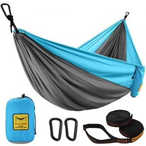 Double Portable Hammock Ultralight for Backpacking, Travel, Camping