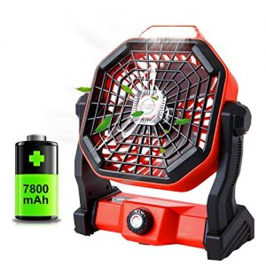 Portable Camping Fan with LED Lantern