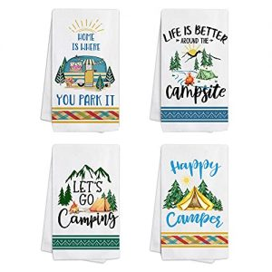 Camping Kitchen Towels and Dishcloths Set