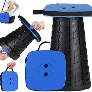 Portable Retractable Collapsible Stool with Larger Seat