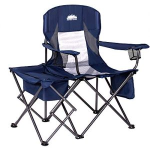 Folding Camping Chairs with Cooler Table Side Bag