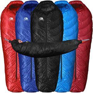 Hammock Compatible Hydrophobic Down Sleeping Bag
