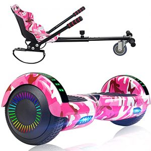 SISIGAD Hoverboard with Seat Attachment Combo