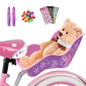 Doll Bike Seat Decorative Decals Stickers and Star Wheel Spokes