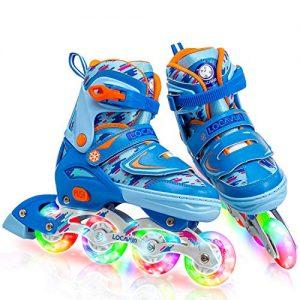 Inline Skates for Kids Adjustable Light up