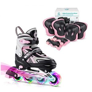 Gonex Size M Inline Skates with Knee Pads