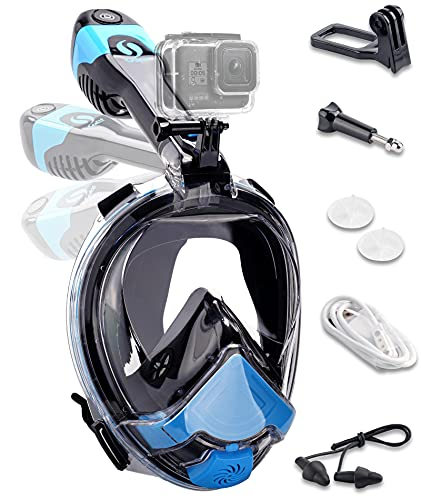 Smart Snorkel Mask 2021 Upgrade Electric Air Circulation