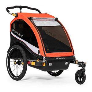 2 Seat Kids Bike Trailer & Stroller