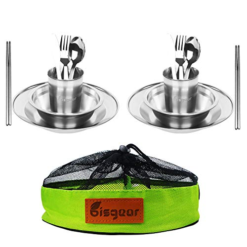 Tableware Mess Kit Includes Plate Bowl Cup Spoon Fork Knife