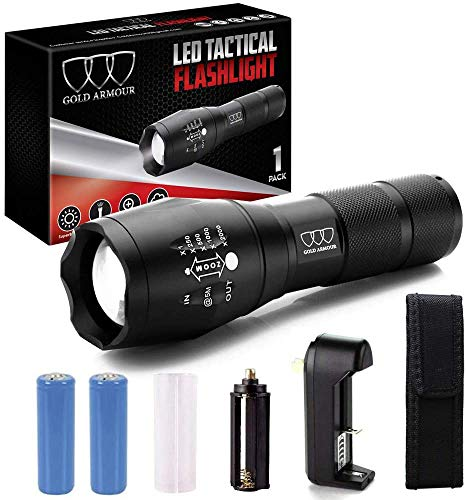 LED Water Resistant High Lumens Rechargeable Flashlights