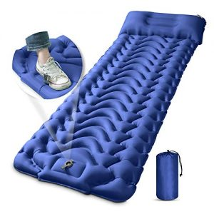 Camping Sleeping Pad Inflatable Sleeping Mat with Pillow Built-in Foot Pump