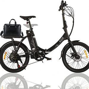 20MPH Folding Electric Bike for Adults Teens Elder
