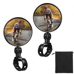 2 Pieces Bike Mirror Cycling Adjustable 360 Degree