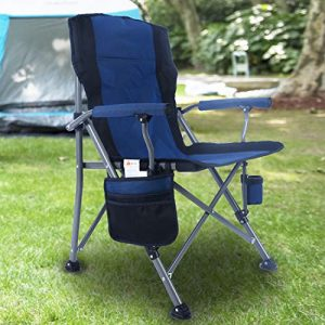 Portable Camping Chair Folding with Padded Armrests