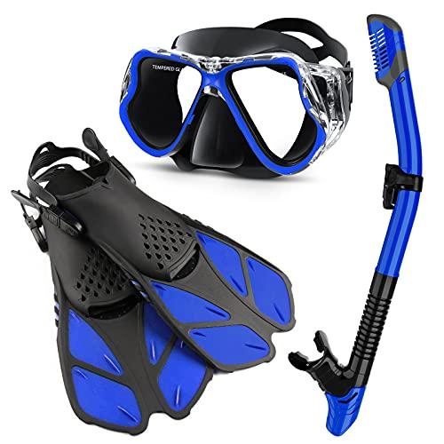 Zenoplige Mask Fins Snorkel Set Adults Men Women