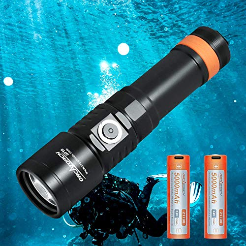 3000 Lumen Underwater Flashlight with 6 Degrees Narrow Beam