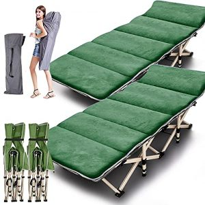 ABORON 2 Pack Camping Cots for Adults