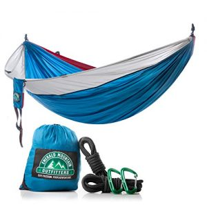 Camping Hammock for Outdoors for Hiking, Backpacking, Travel by Emerald Mountain Outfitters