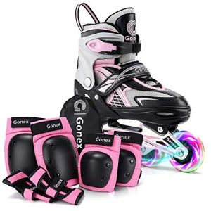 Skates with Elbow Pads Knee Pads and Wrist Guards