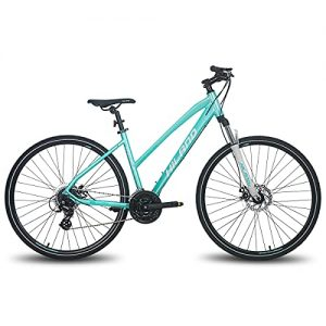 Hiland 700C Hybrid Bicycle with Suspension Fork