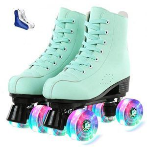 Roller Skates for Women Double-Row Roller Skates with Shoes Bag
