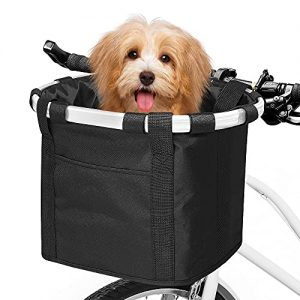 Front Removable Bicycle Handlebar Basket Folding Small
