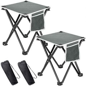 Portable Folding Stool Chair with Mesh Pocket Camping, Fishing