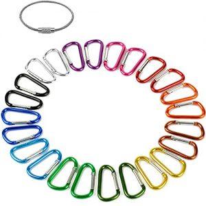 "2"" Aluminum D Ring Carabiners Clip D Shape"